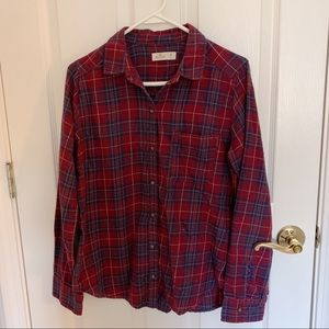 Maroon and Navy Flannel